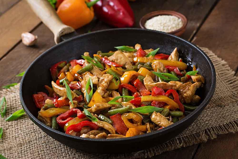 Studenten recept: kip uit de wok