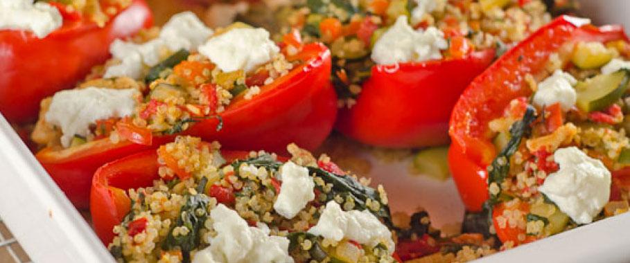 Makkelijk studenten recept: gevulde paprika's