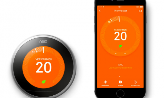 Slimme thermostaat aanbieding   Nest Learning Thermostat   Nu €199,-