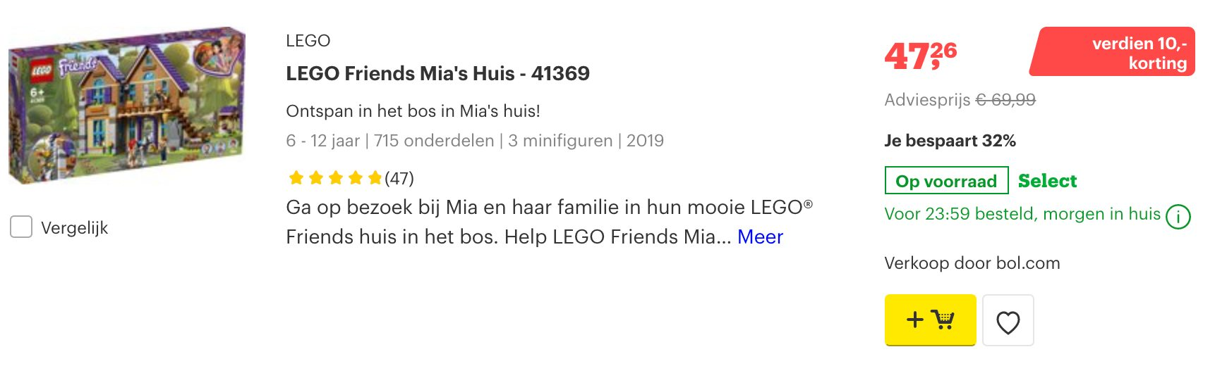 lego aanbiedingen bol.com