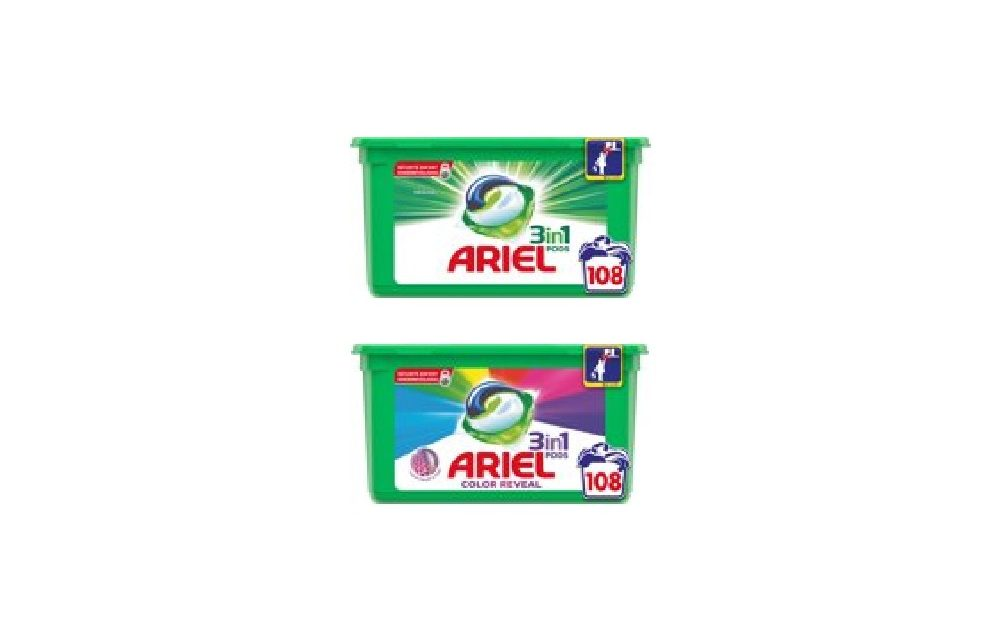 Ariel wasmiddel aanbieding | Tot 50% korting op o.a. Ariel Pods