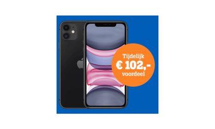 Apple iPhone 11 met abonnement aanbieding Tele2 | €102,- korting!