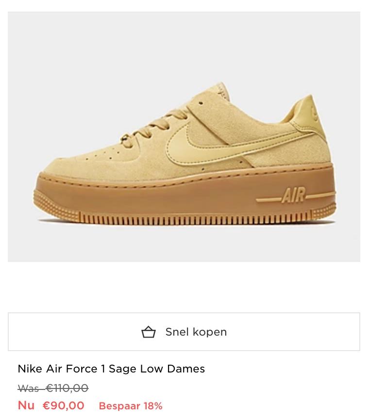 Nike sneakers dames sale: tot 34% korting! | Air Force 1 & meer