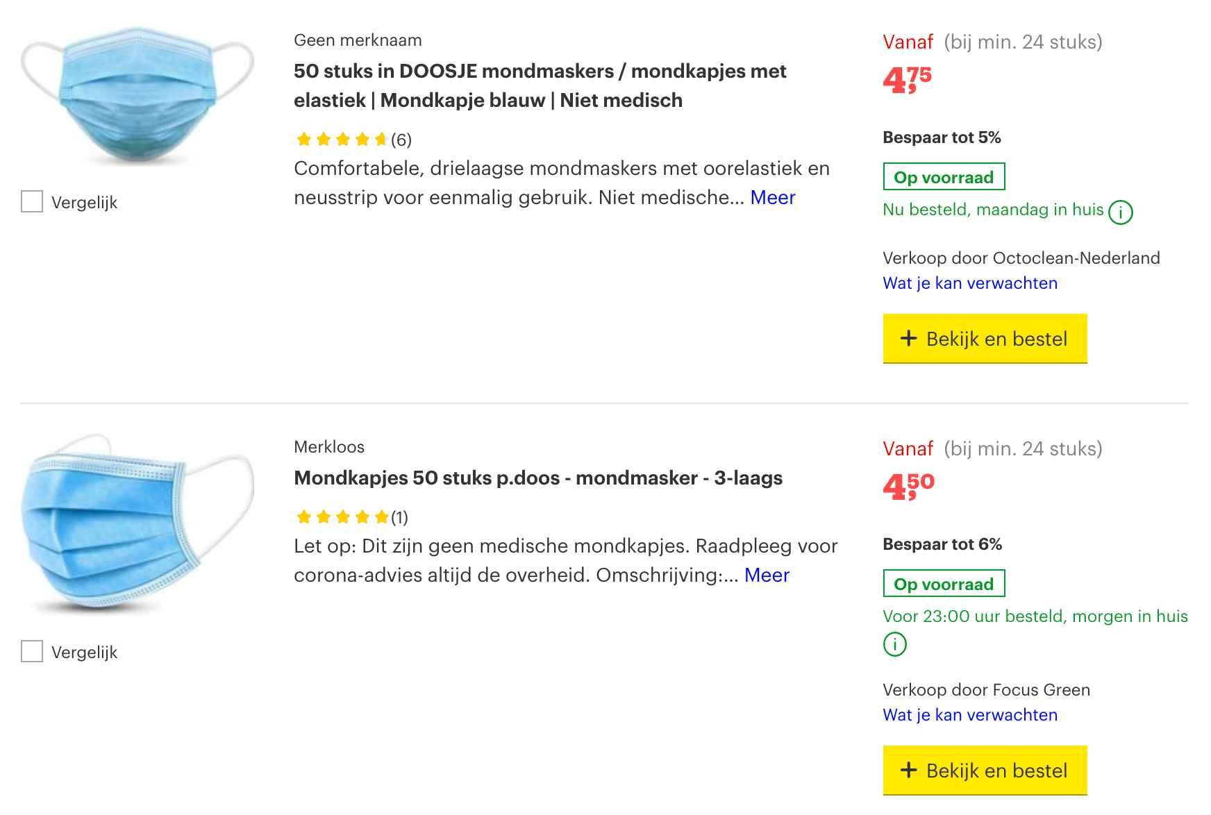 goedkope wegwerp mondkapjes kopen bij bol.com