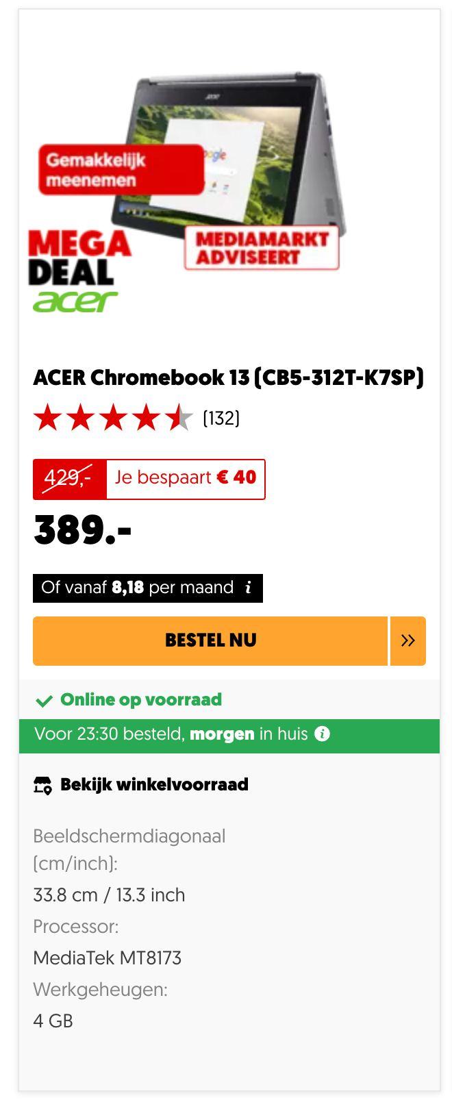 ACER Chromebook 13 (CB5-312T-K7SP)