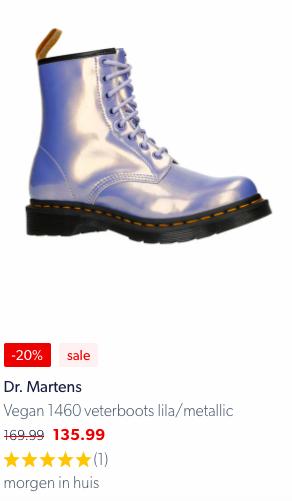 Dr Martens 1460 Lila Metallic aanbieding