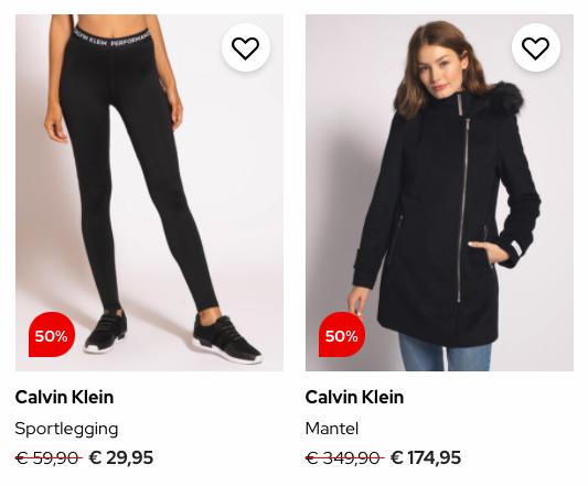 Dress For Less Calvin Klein Dames deal