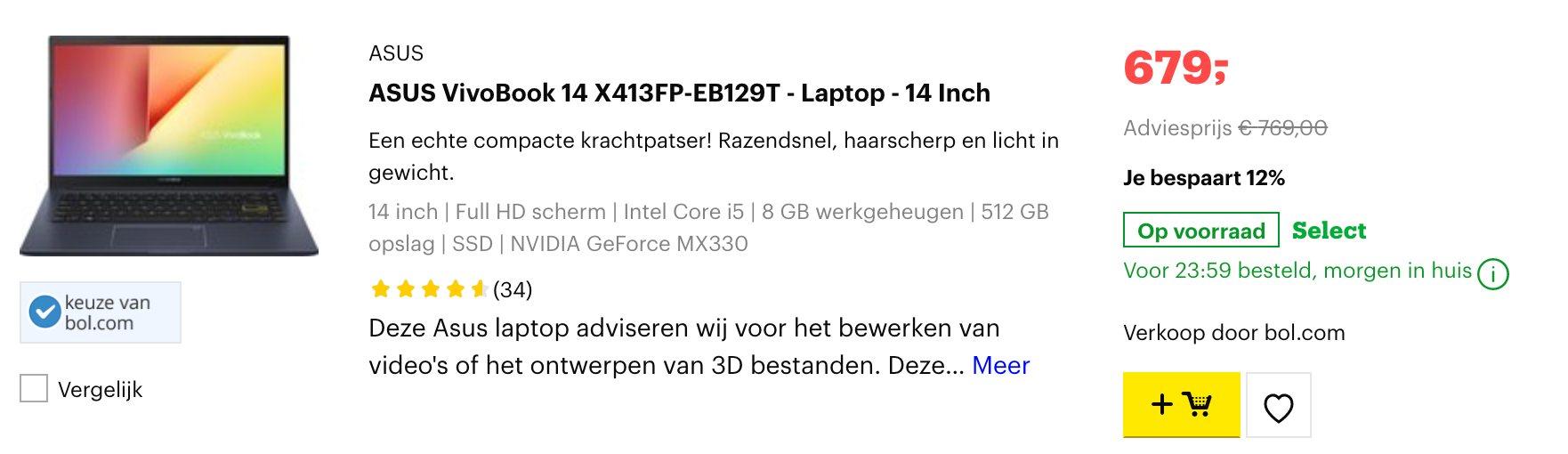 ASUS VivoBook 14 X413FP-EB129T
