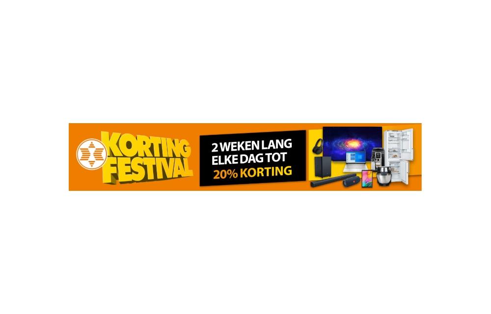 Expert kortingsfestival | 2 weken lang elke dag tot 20% korting | Nu actief!