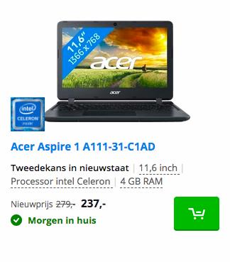 Acer Aspire 1 A111-31-C1AD 2e hands laptop