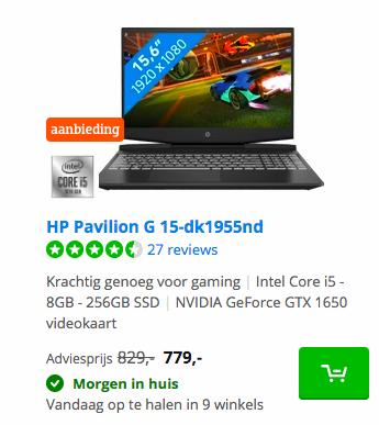 HP Pavilion G 15-dk1955nd deal