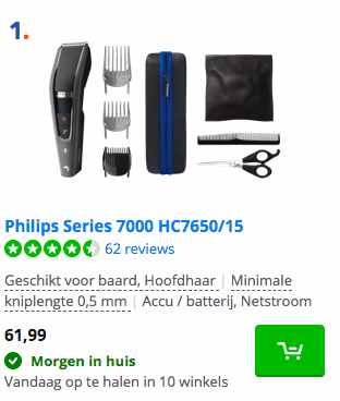 Philips Series 7000 HC7650/15 Coolblue tondeuse