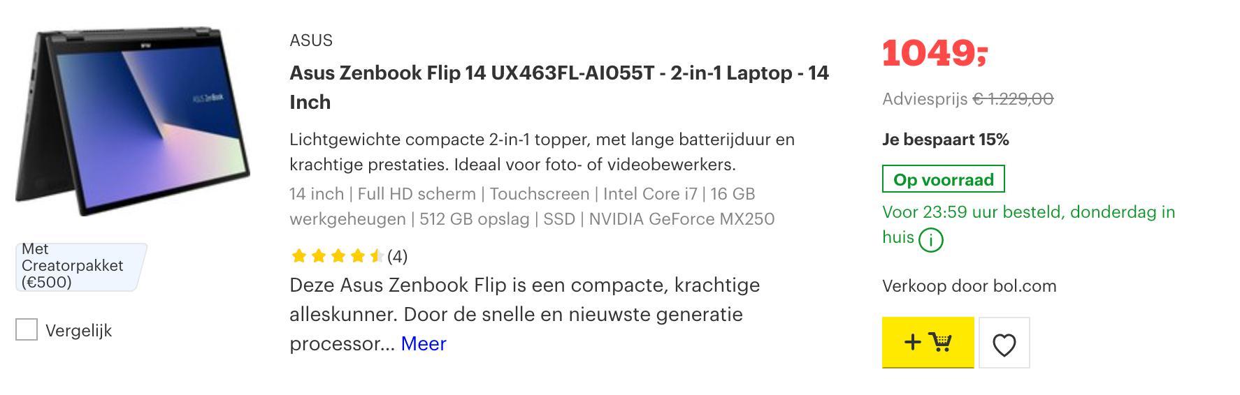 Asus Zenbook Flip 14 UX463FL-AI055T