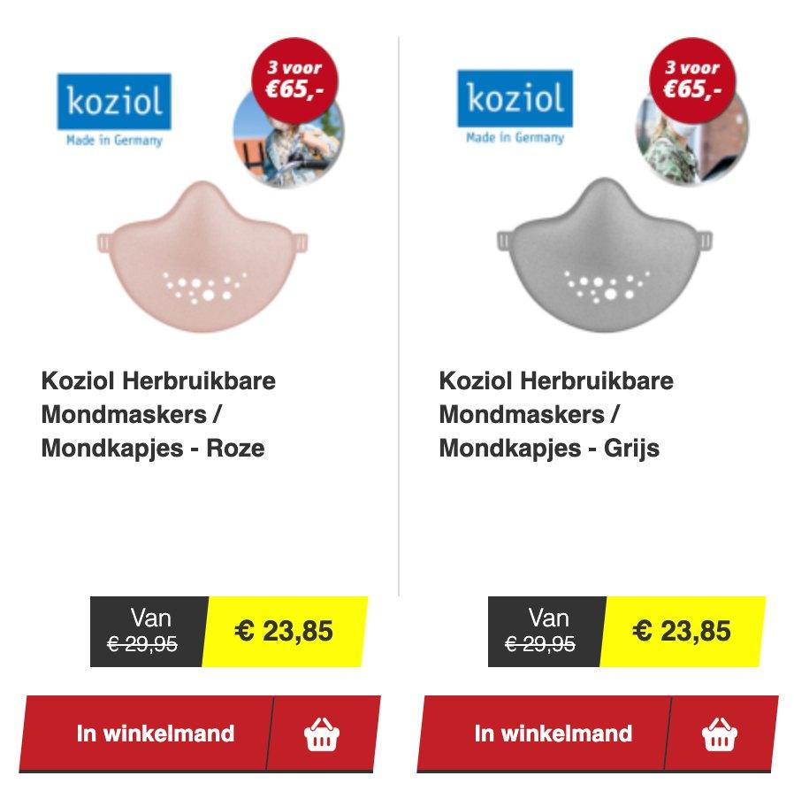 voordeeldrogisterij mondkapjes herbruikbaar koziol