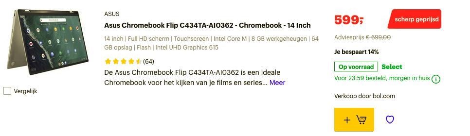 Asus Chromebook Flip C434TA-AI0362