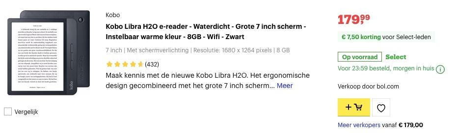 Kobo Libra H2O Ereader aanbieding