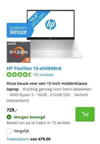 HP Pavilion 15-eh0948nd aanbieding