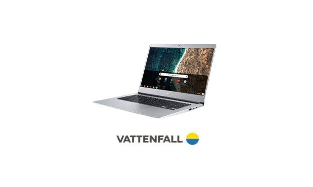 Vattenfall Acer Chromebook | Gratis laptop t.w.v. €349,- bij 1-jarig contract
