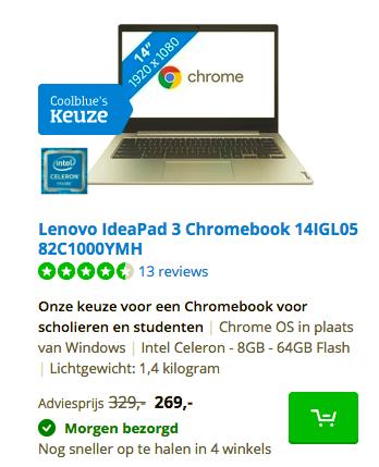 enovo IdeaPad 3 Chromebook 14IGL05 82C1000YMH