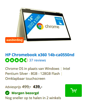 HP Chromebook x360 14b-ca0550nd