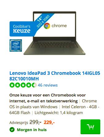 Lenovo IdeaPad 3 Chromebook 14IGL05 82C10010MH